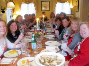 Sharing memories of schooldays in Rome over buonissimo food. Such great groups in these Winnetka classes!
