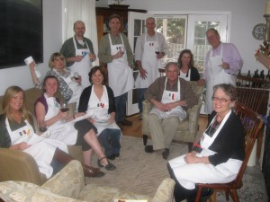 Introducing Umbrian rural culinary traditions to Bob's birthday gathering