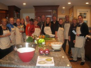 A cooking reunion with Connecticut friends<br/>(first meeting: in Umbria!)
