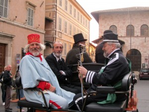 ...Garibaldi, Mazzini and re Vittorio in carrozza