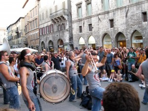 Funk Off rocks through the streets of Perugia
