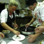 Panna cotta prep by Stefania and Alessandro