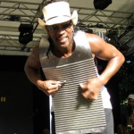 Rockin' Dopsie on the washboard plays to his Perugia public