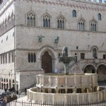 Perugia civic palace and 13th-c. fountain