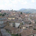 Perugia rooftop view