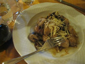 Quadrotti of veal at Ristorante Ophis