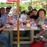 Family-group-enjoys-the-seafood-and-wines-at-Cantine-Aperte-near-Orvieto