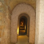 Finely-vaulted-medieval-passageways-in-the-Camerano-underground