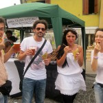 Young-Marches-performers-enjoy-beer-and-stuffed-olives-before-their-performance