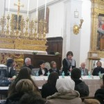A conference in the San Francesco church before viewing the restoration