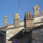 Assisi chimney clusters form a sculpture piece