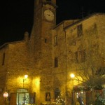 Citerna main piazza, nightime