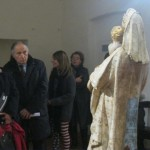 Giuditta Rossi, head of the Art Ministry of Umbria, explains the restoraiton to visitors