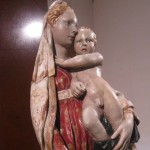 The delicate gentility of the Madonna, the curved position of the Child - work o a master