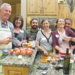 Family and friends team up in the kitchen