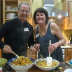 Hosts Therese and Marc dish up the pasta
