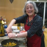 Louise adds pepper to the winter squash