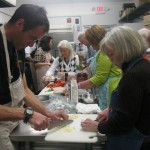All hands at work at the Gourmet Galley