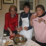 Anne, Brenda and Ruth relish our bruschetta