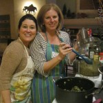 Brenda and Kim ready to blend the pate'