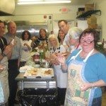 Bruschetta enjoyed by all at Gourmet Galley Catering class