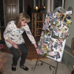 Jackie shows her photos of rural friends in Umbria