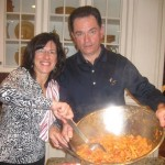 Our hosts, Frank and Sharon serve up the pasta