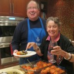 Two old friends serve up the baked tomatoes