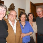 Americo, Olga and daughter Simona warmly welcome new friends