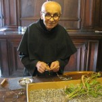 Brother Paul grows the seeds for his rosaries