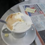 Cappuccino with whipped cream - a specialty