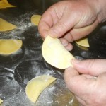 Chef Paolo prefers the half-moon shape for his ravioli