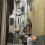 Children at play in S. Anatolia medieval alleyways