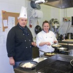 Paolo and wife Cinzia team up in the kitchen