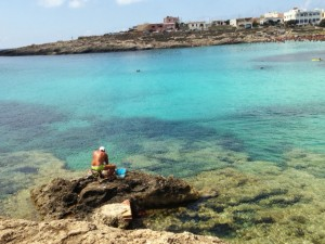 A solitary fisherman on Lampedusa